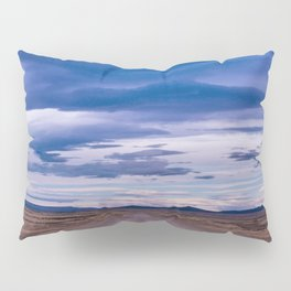 Wind and empty roads in Patagonia. Pillow Sham
