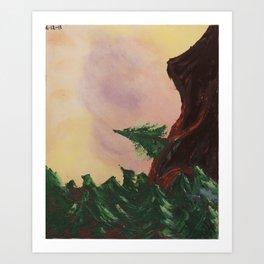 Climbing The Bighorn Mountains Art Print