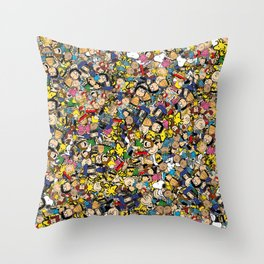 Peanuts Characters Throw Pillow