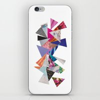 triangles iPhone & iPod Skins featuring Triangles by Lydia Coventry