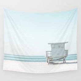 Lifeguard Beach Hut Wall Tapestry