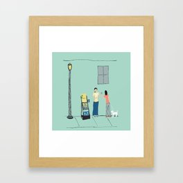 At the Cart Framed Art Print