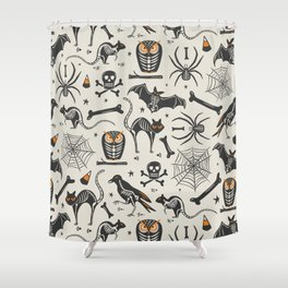 Halloween X-Ray Shower Curtain