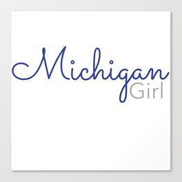 Michigan Girl Canvas Print