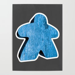 Giant Blue Meeple Poster