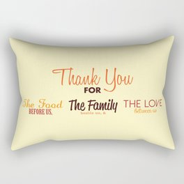 Thanksgiving Grace | Fall Colors Rectangular Pillow