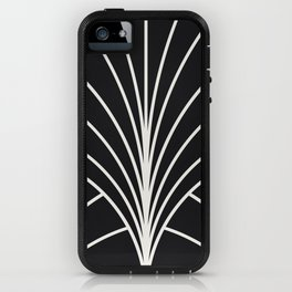 Diamond Series Floral Burst White on Charcoal iPhone Case