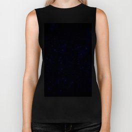Dark Matter Galaxy Blue Biker Tank
