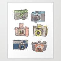 Camera Collection Art Print