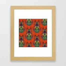flower beetle orange Framed Art Print