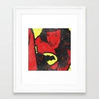 bondage Framed Art Prints featuring Bondage Crusader by Butcher Billy