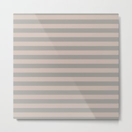 Grey Stripes Metal Print