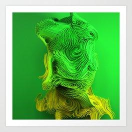Curlyface_v08 Art Print