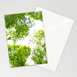 New green leaves Stationery Cards