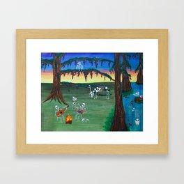 Beautiful Bodies Farm Scene Framed Art Print
