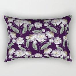 White flowers. Rectangular Pillow