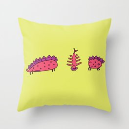 Dinosaur Tree Friends Throw Pillow