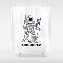 planet hoppers Shower Curtain