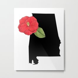 Alabama Silhouette Metal Print