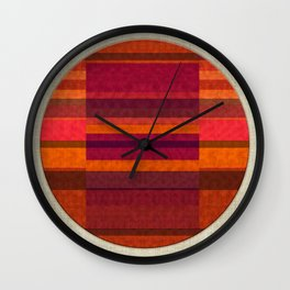 """Pink and Purple Burlap & Velveteen"" Wall Clock"