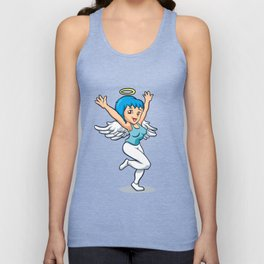 angel girl with wings Unisex Tank Top