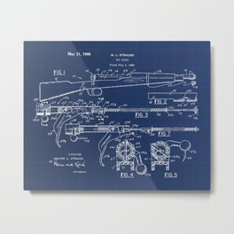 Toy Rifle Vintage Patent Hand Drawing Metal Print