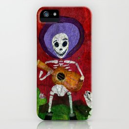 Mariachi Musician Guitar Player Skeleton iPhone Case