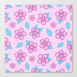 Sakura // Pink Canvas Print