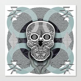 Skull grey Canvas Print