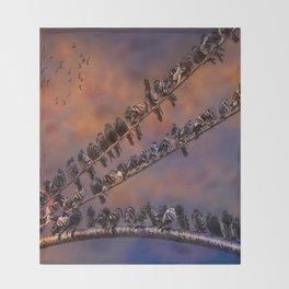 Pigeon Gangs Throw Blanket