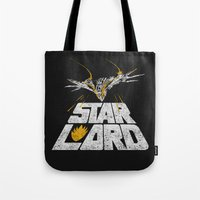 star lord Tote Bags featuring Star-Lord by MeleeNinja