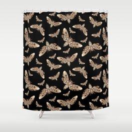 Death's Head Moths Shower Curtain