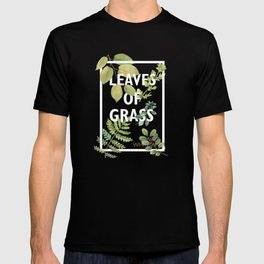 Leaves of Grass, Walt Whitman, book cover illustration, american poetry collection, flowers art T-shirt