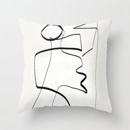 Abstract line art 6 Throw Pillow
