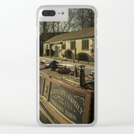 Golden Barges of Stratford Clear iPhone Case