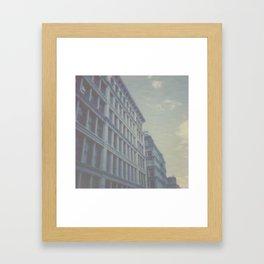 New York City in Blue I Framed Art Print
