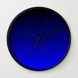 Black and Cobalt Gradient Wall Clock