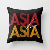 asia Throw Pillows featuring Asia for Asia by Park is Park