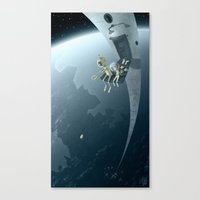 bombs away Canvas Prints featuring Bombs Away by Otis Frampton