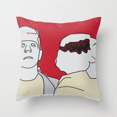 Monster & his Bride Throw Pillow