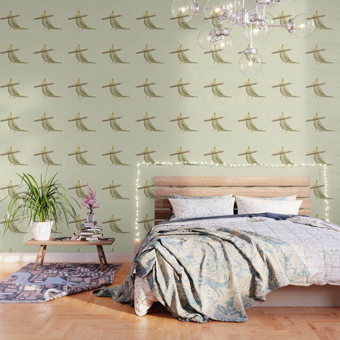 Cockatiel & Pencil Wallpaper