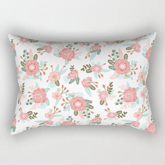Trendy florals abstract painting gender neutral spring summer gardener gardening garden flowers Rectangular Pillow