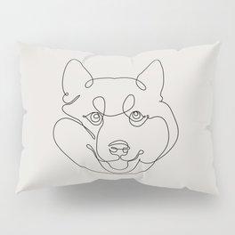 One Line Shiba Inu Pillow Sham