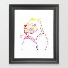 Bear Color Framed Art Print