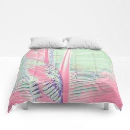Flamingo and banana Comforters