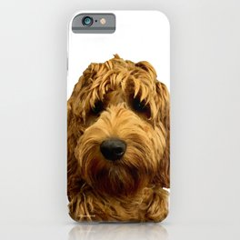 Red Cockapoo / Doodle Dog  iPhone Case