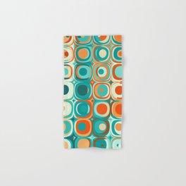 Orange and Turquoise Dots Hand & Bath Towel