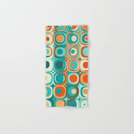 Orange and Turquoise Dots Hand & Bath Towel