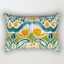 sugarsnap balinese ikat Rectangular Pillow