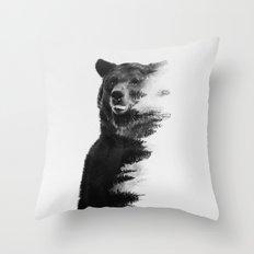 Observing Bear Throw Pillow
